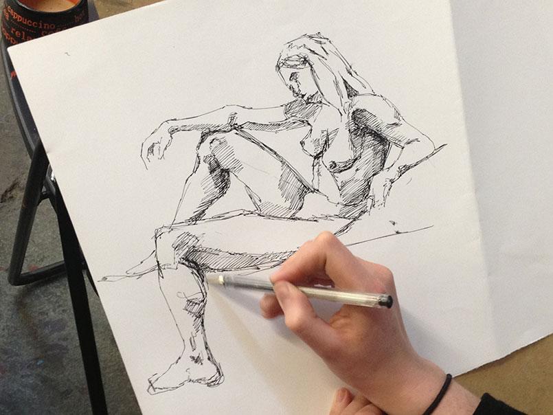 Aktzeichnen – Schule für Bildende Kunst und Gestaltung