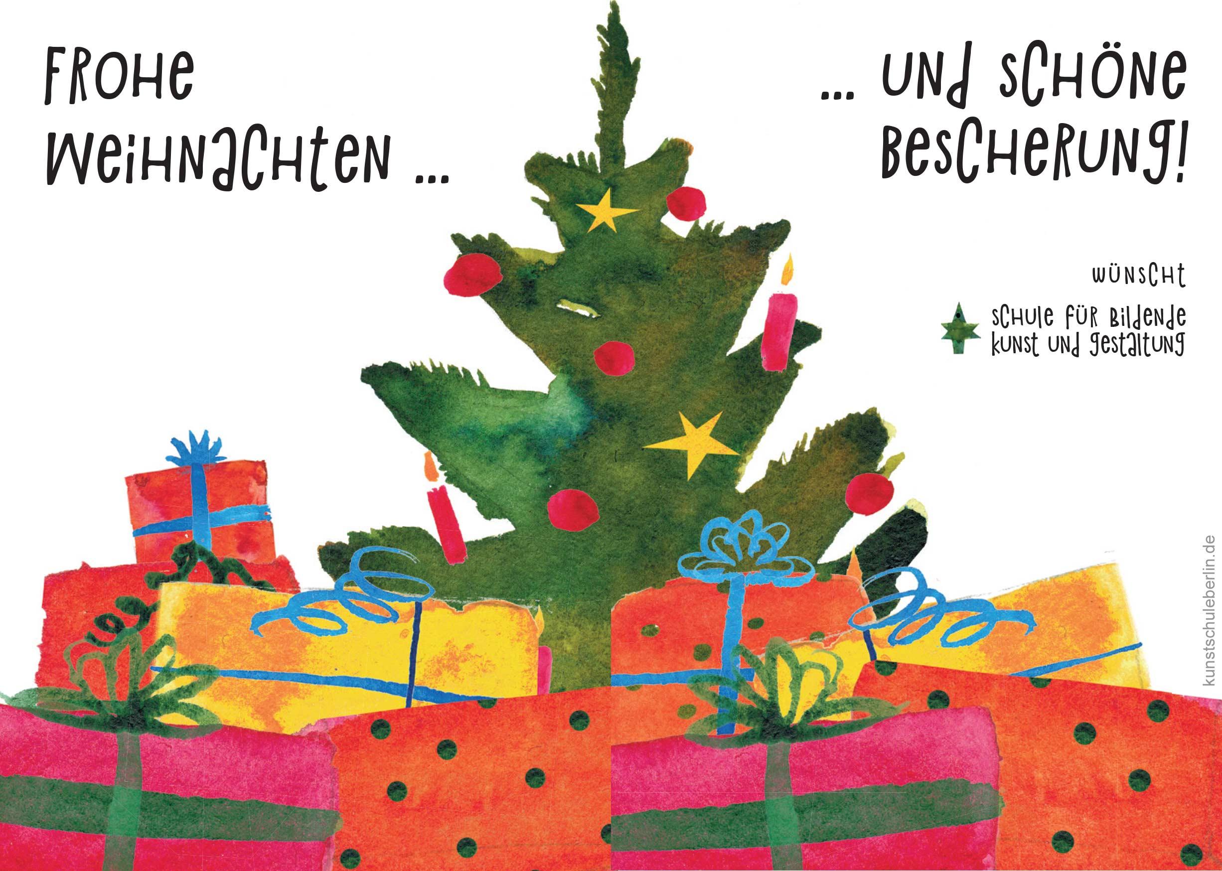 Weihnachtsferien in der Kunstschule sind von 23.12.19 bis 03.01.20