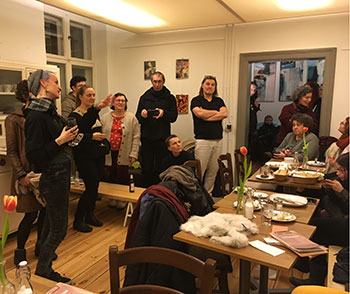 Vernissage Fotoklasse Ruthe Zuntz Café Villa Oppenheim