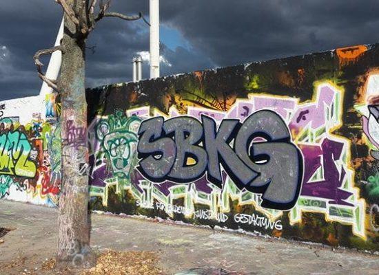 Ein Werk aus dem Graffiti Street Art Workshop im Rahmen der Herbstakademie an der Kunstschule