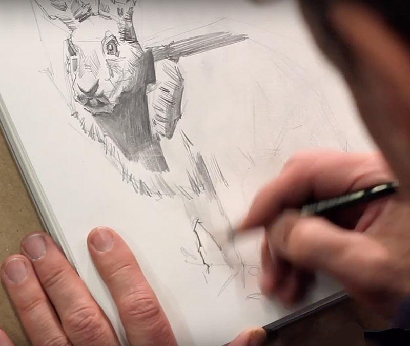 Hase Zeichnen von Andrei Krioukov