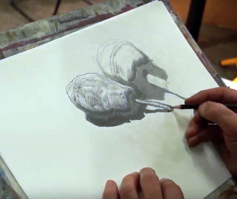 Andrei Krioukov. Zeichnen/Stilleben
