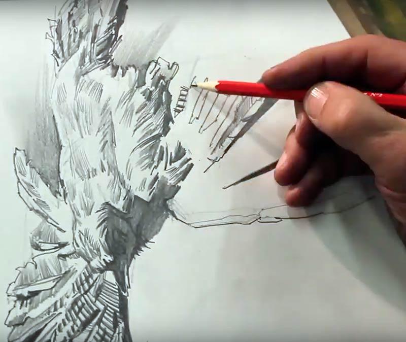 Andrei Krioukov. Zeichnen/Eichnehoeher