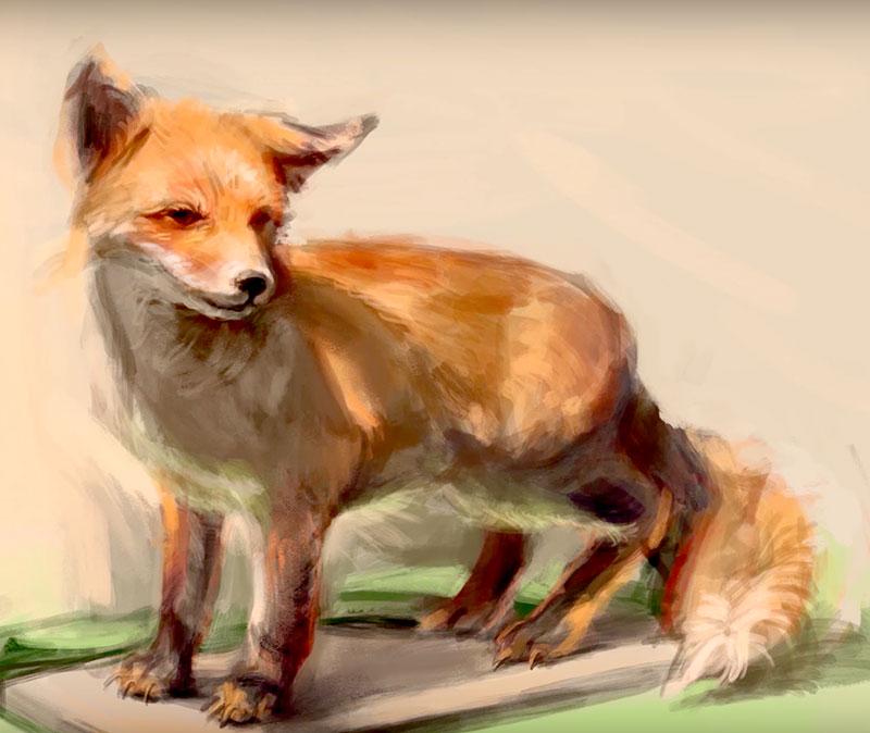 Digitales Zeichnen/Fuchs
