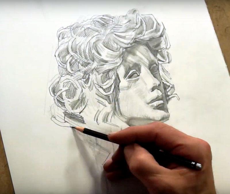 Andrei Krioukov. Zeichnen/Lockenkopf
