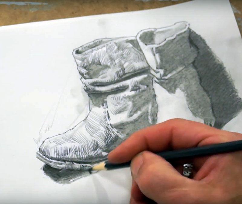 Andrei Krioukov. Zeichnen/Schuhe